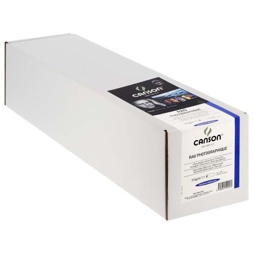 """Papier jet d'encre CANSON Infinity Rag Photographique blanc mat 310g - 24"""" (61cm) - 15,24m"""
