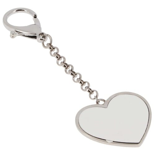 Porte-clefs métal - Forme cœur - Dim. 26x43mm