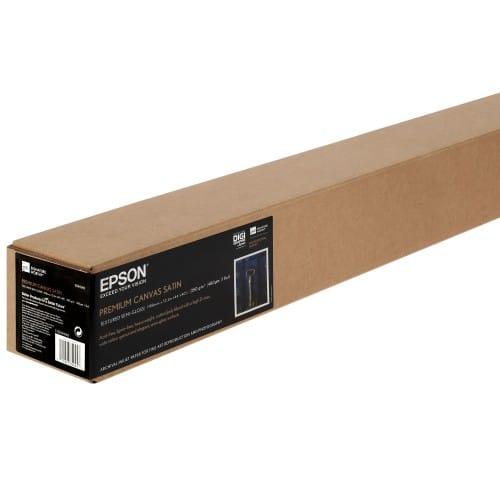 """Toile canvas jet d'encre EPSON Premier toile Polycoton satin 350g - 44"""" (111,8cm) - 12,2m"""