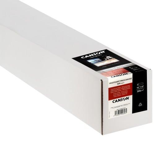 """Toile canvas jet d'encre CANSON Infinity PhotoArt ProCanvas Water Résistant Polycoton lustré 395g - 44"""" (111,8cm) - 12,2m"""