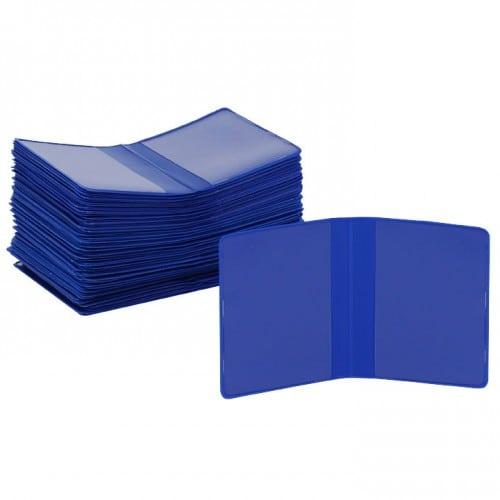 Chemise - Pochette identité MB TECH Plastique Bleue - Lot de 100