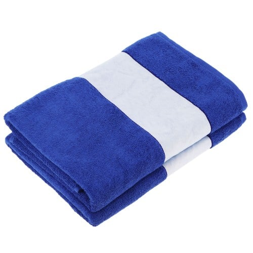 Serviette de bain TECHNOTAPE bleue - Dim. 70x140cm