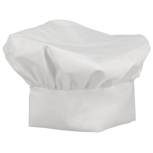 Toque de cuisinier TECHNOTAPE blanc - 100% polyester sensation coton