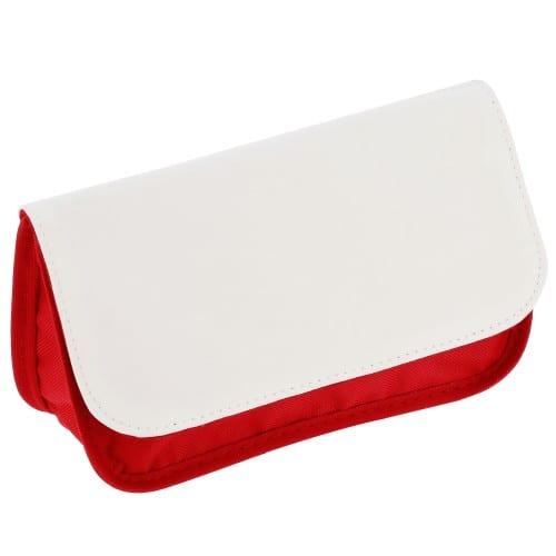 Trousse TECHNOTAPE de maquillage rouge - Dim. 11x19,5cm