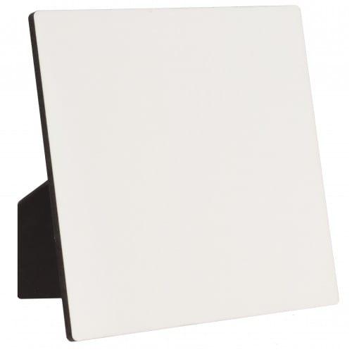 Panneau ChromaLuxe épais avec chevalet 15 x 15 cm - épaisseur 6,35mm - Blanc brillant