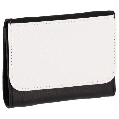 Porte-monnaie TECHNOTAPE simili cuir noir - Dim. 10,3x13,8cm