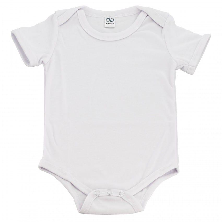 Body enfant en coton blanc 62/68cm - 3/6 mois