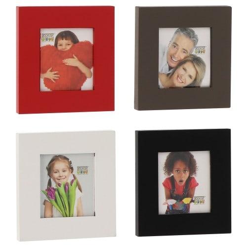 Cadre photo DEKNUDT S59KK9 - bois pour photo 3,5x4,5cm - coloris aléatoire si achat de 1 à 3 cadres - 1 coloris de chaque si ach