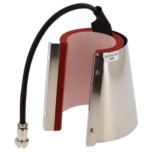 Elément chauffant conique diamètre haut 90mm et un volume 12oz pour presse à Mug Secabo TM1 et TM2 (Réf STM1 et STM2) et Transmax TMMME6 (Réf TMPS032)