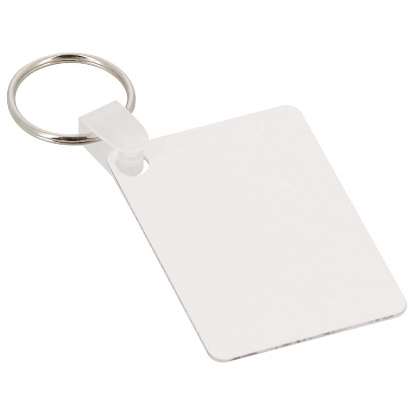 Porte-clefs UNISUB plastique - Forme rectangle, recto-verso - Dim. 40,6x57,15mm (Ep. 1,14mm)