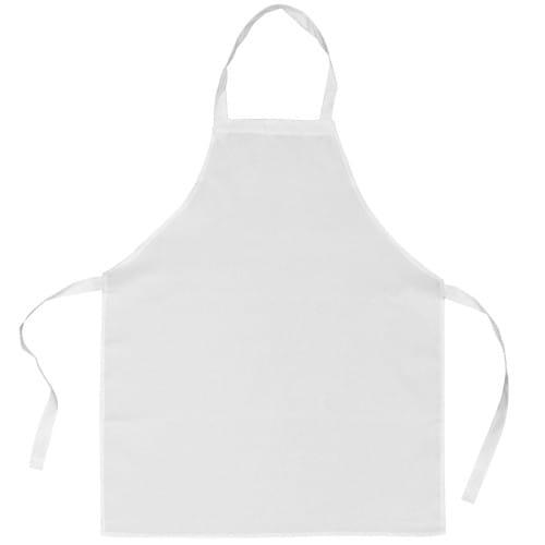 Tablier de cuisine TECHNOTAPE blanc - 100% polyester sensation coton - Dim. 71x85cm