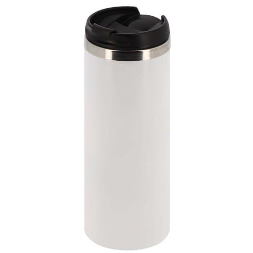 Mug en acier inoxydable de voyage 450ml (15oz) Blanc - Diamètre 72mm
