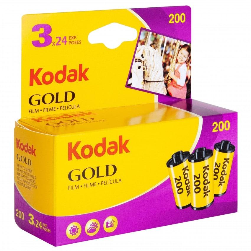 Pellicule photo KODAK Gold New 200 iso 135/24P Pack 2+1 gratuit