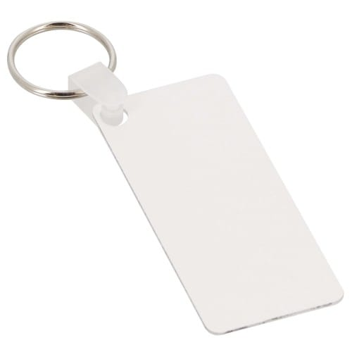 Porte-clefs UNISUB plastique - Forme rectangle, recto-verso - Dim. 31,7x76,2mm (Ep. 2,29mm)
