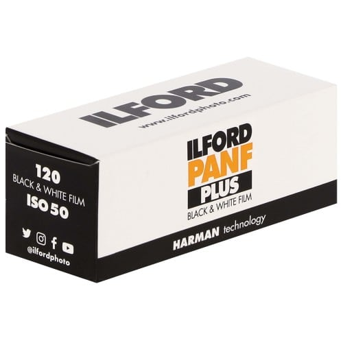 ILFORD - Film noir et blanc PAN F 50 Format 120 - à l'unité