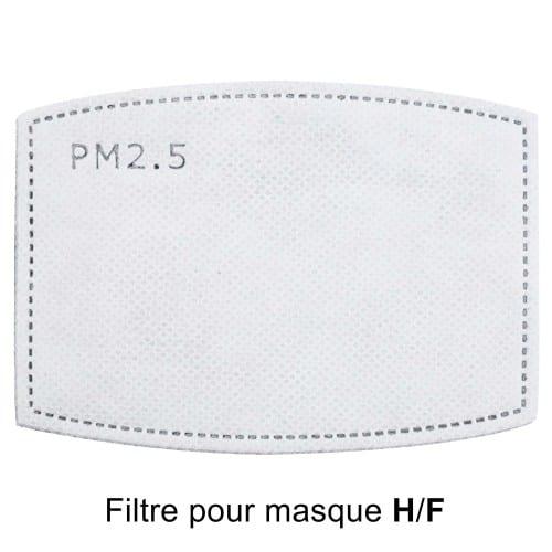 Filtre pour masque facial Homme ou Femme - à l'unité