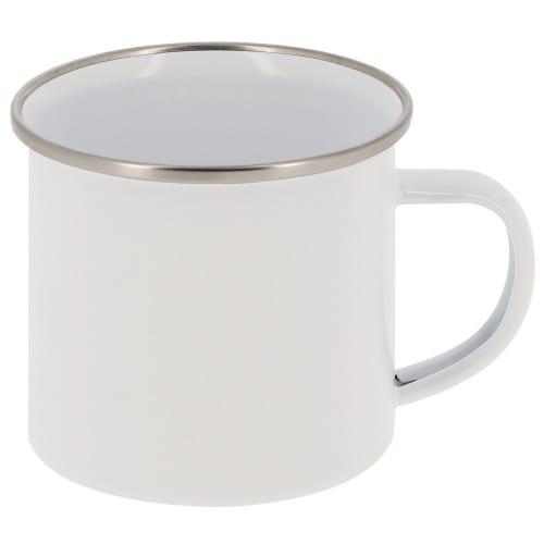 Mug en acier inoxydable 355ml (12oz) Blanc - Diamètre 80mm