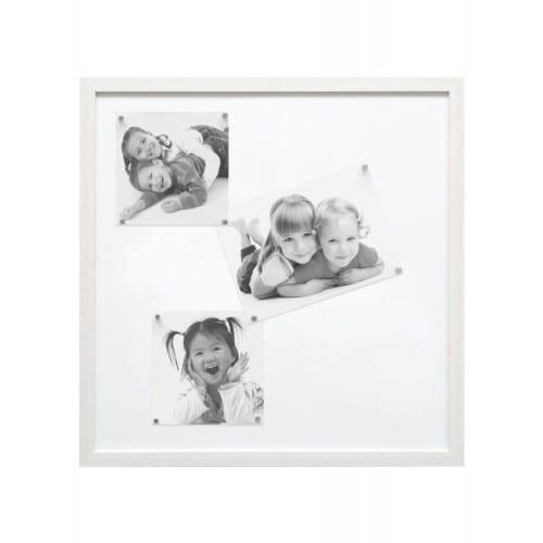 DEKNUDT - Pêle-mêle S41VF1M - tableau magnétique blanc résine + 10 aimants argentés