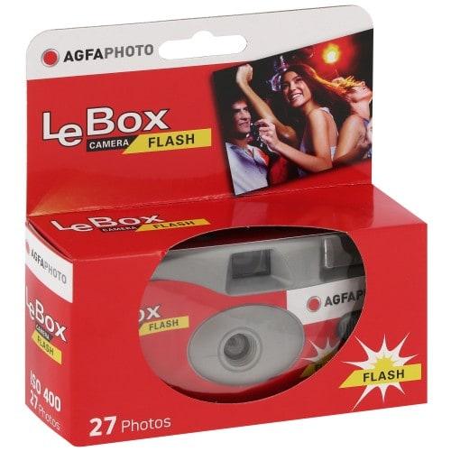 AGFA - Appareil photo jetable Le Box Camera Flash - 400 iso - 27 poses