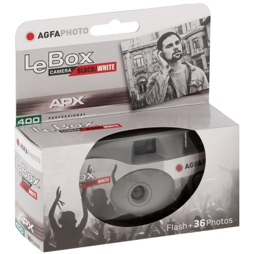 AGFA - Appareil photo jetable Le Box Camera Black and White - 400 iso - 36 poses