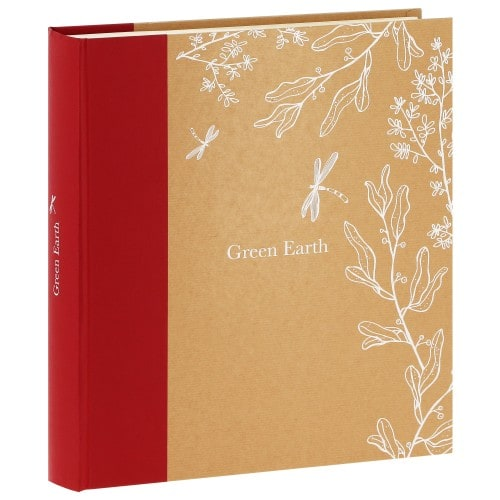 traditionnel GREENEARTH LIBELLULE - 100 pages ivoires - 600 photos - Couverture Rouge 34,2x37,4cm