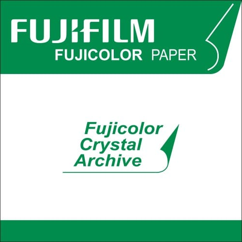 Papier argentique FUJI Crystal Archive Suprême Brillant - marqué au dos - 20,3cm x 80m - Carton de 2 rouleaux