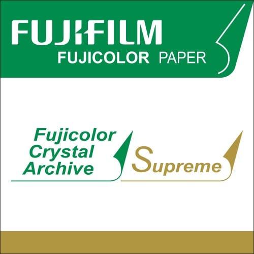 Papier argentique FUJI Crystal Archive Suprême Brillant - marqué au dos - 12,7cm x 170m - Carton de 2 rouleaux