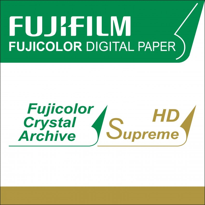 Papier argentique FUJI Crystal Archive Suprême HD Brillant - marqué au dos - 30,5cm x 83,8m - Carton de 2 rouleaux
