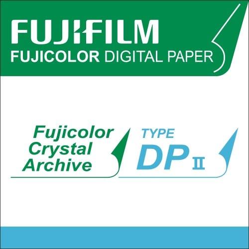Papier argentique FUJI Digital Crystal Archive DPII Brillant - non marqué au dos - 10,2cm x 167,6m - Carton de 4 rouleaux