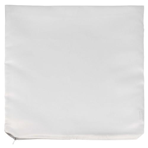 Housse de coussin TECHNOTAPE blanche - Forme carré - 100% polyester sensation coton - Dim. 45x45cm (à utiliser avec réf. TSPS010