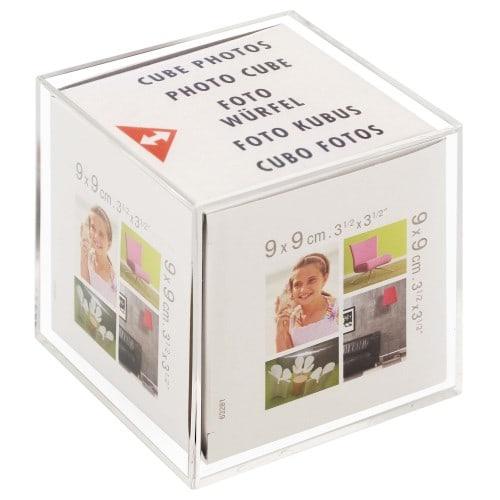 Cadre photo BRIO Béa Cristal cube en plexiglas pour 6 photos 9x9cm