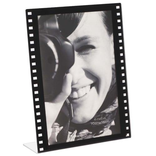 Cadre photo DEKNUDT S58RJ2 V noir motif film - résine