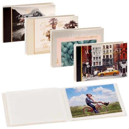 pochettes sans mémo BEAUTIFUL LIFE - 32 pages blanches - 32 photos - Couverture image aléatoire 12x16cm - à l'unité