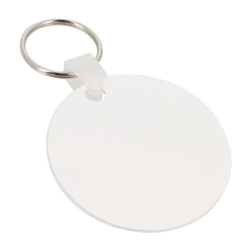 Porte-clefs UNISUB plastique - Forme rond, recto-verso - Diamètre 63,5mm (Ep. 2,29mm)