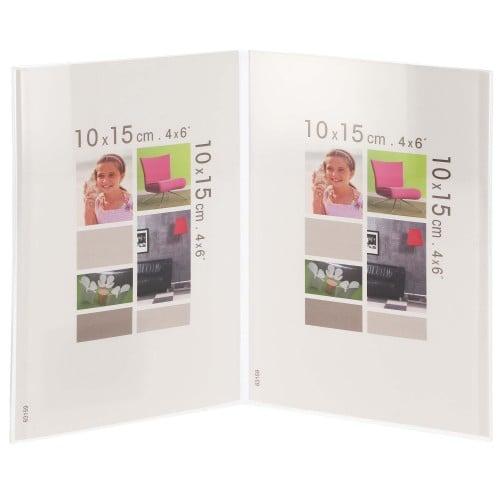 BRIO - Cadre photo multivues Bob Cristal double en plexiglas