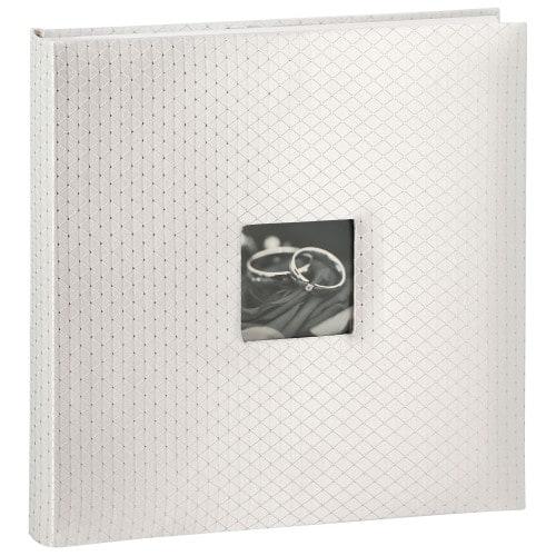 WALTHER DESIGN - Album photo traditionnel Mariage GLAMOUR - 60 pages blanches + 2 pages illustrées + feuillets cristal - 360 photos - Couverture Blanche 33x34cm