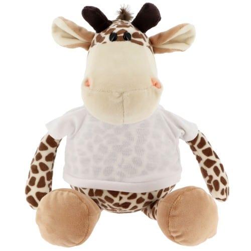 Peluche Girafe + T-shirt blanc - Hauteur 23cm