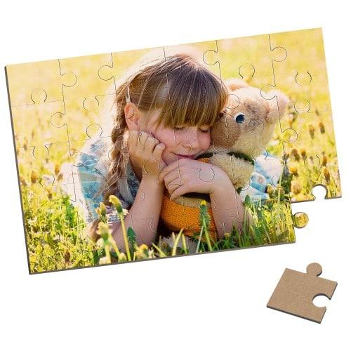 Puzzle Unisub rectangulaire - Bois - Finition brillante - Dim. 17,5x25cm - 30 pièces - Epaisseur 0,3cm