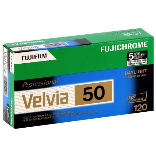 couleur VELVIA RVP 50 Format 120 - Pack de 5
