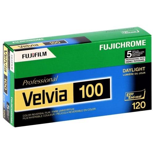 couleur VELVIA RVP 100 Format 120 - Pack de 5