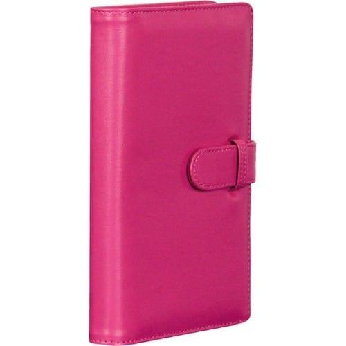 Mini album photo FUJI pochettes Simili cuir Rose 120 vues / 3 vues par page - Pour Instax Mini