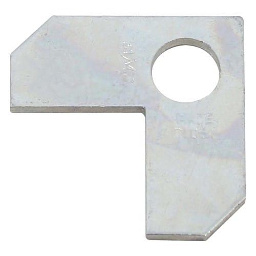 Plaque arrière pour angle à vis pour montage baguettes d'espacement en alu (prévoir 4 pièces)