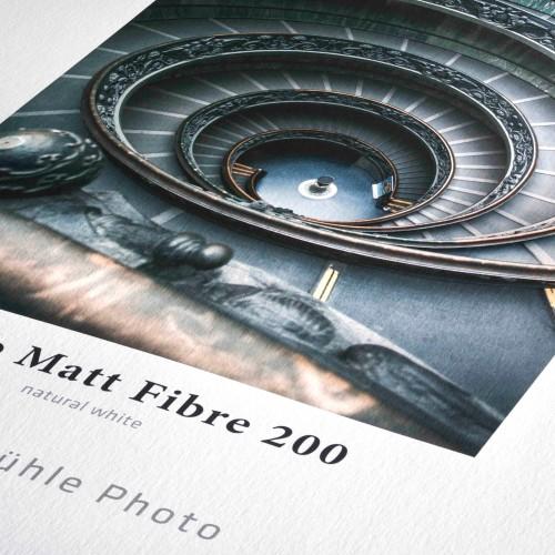 HAHNEMÜHLE - Papier jet d'encre Photo Matt Fibre - 200g - A4 (25 feuilles)