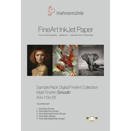 Hahnemühle Echantillons Pack FineArt Matt - Smooth A3+