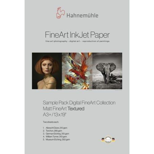 Hahnemühle Echantillons Pack FineArt Matt - Textured A3+