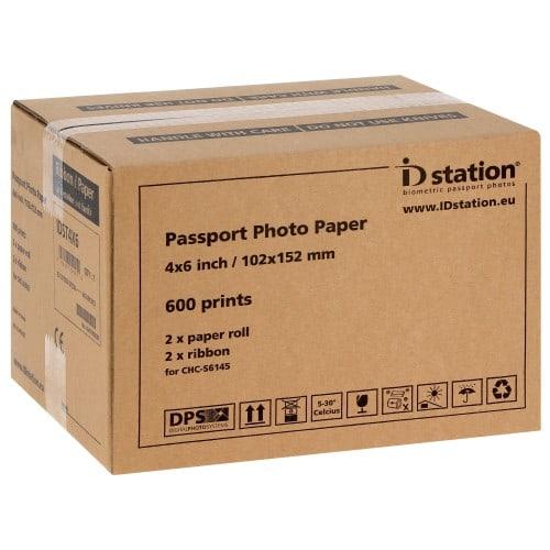 Papier thermique identité ID STATION pour kiosks ID STATION et ID STATION PHOTOMATIC (imprimante noire vendue depuis le 10/09/15