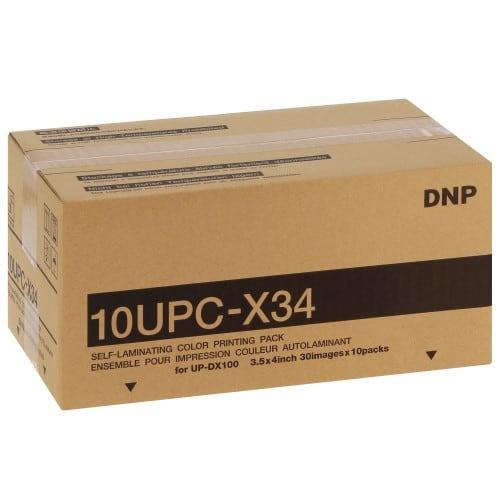 Papier thermique identité SONY 10UPCX34 - Pour imprimante UP-DX100 - Carton de 10 x 30 tirages (4 poses)