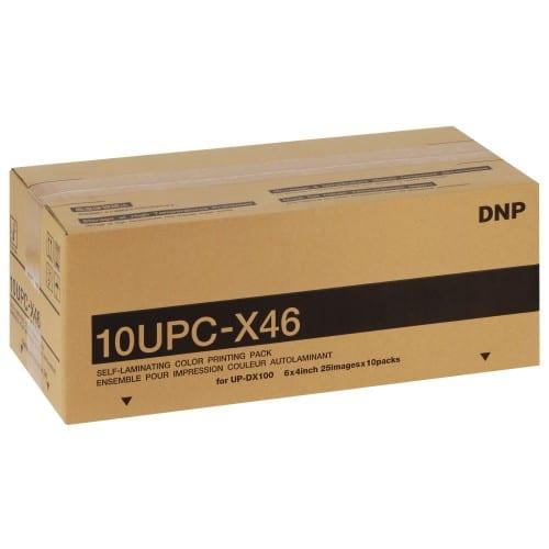 Papier thermique identité SONY 10UPCX46 - Pour imprimante UP-DX100 - Carton de 10 x 25 tirages (6/8 poses)