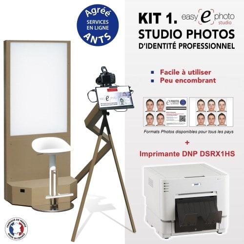 EASY E PHOTO - Kiosk photo identité EASY EPHOTO STUDIO - Kit 1 avec Imprimante DNP DS-RX1 HS