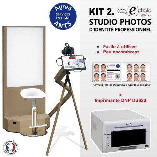 EASY E PHOTO - Kiosk photo identité EASY E PHOTO STUDIO - Kit 2 avec Imprimante DNP DS620